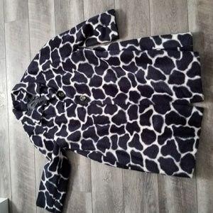Jackets & Blazers - Giraffe black and white Fur Vintage Coat.